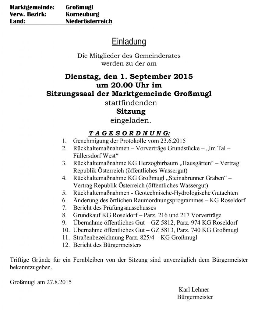 GR-Einladungskurrende 1.9.2015
