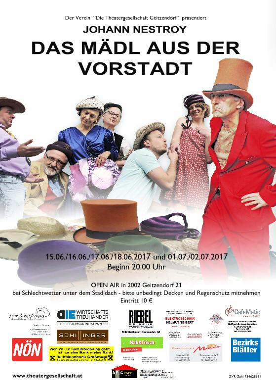 Theatergesellschaft Geitzendorf: Johann Nestroy´s Das Mädel aus der Vorstadt