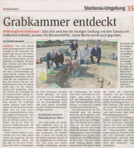 Die Experten bei der Freilegung der Grabkammer mit den Keramikgefäßen: Ernst Lauermann und Volker Lindinger