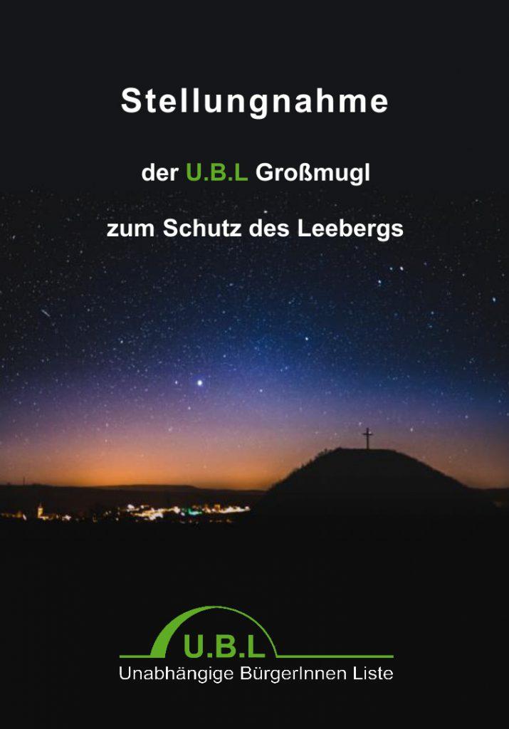 Stellungnahme zum Schutz des Leebergs; Download Button