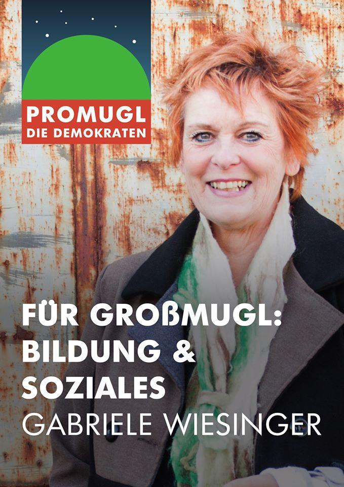 Gabriele Wiesinger, Kandidatin für proMugl